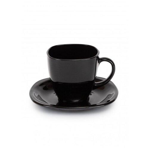 Фото - Сервиз чайный CARINE NOIR 12 предметов 220мл (P4672) чайный набор luminarc брашмания оранж 12 предметов 220мл p8984