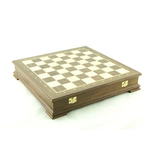Шахматный ларец Стаунтон Орех, 40мм