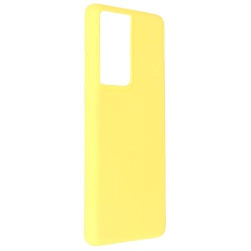 Фото - Чехол Pero для Samsung Galaxy S21 Ultra Liquid Silicone Yellow PCLS-0038-YW чехол pero для samsung s21 plus liquid silicone yellow pcls 0039 yw