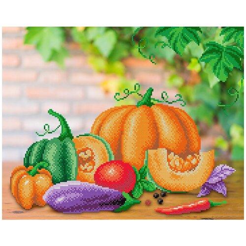 Рисунок на габардине МП студия арт.Г-174 Овощной натюрморт 40х50/28х35