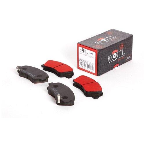 Дисковые тормозные колодки передние Kotl 26KT для Hyundai i20, Hyundai Solaris, Kia Rio (4 шт.)