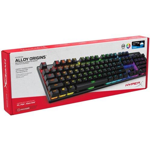Игровая клавиатура HyperX Alloy Origins Black USB HyperX Blue черный