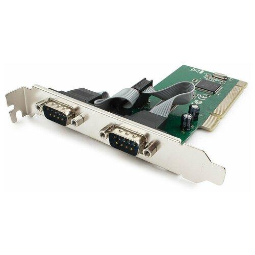 Контроллер COM Gembird SPC-1, в PCI, порты: 2 внешн. COM (RS232) (MOSCHIP MCS9865)