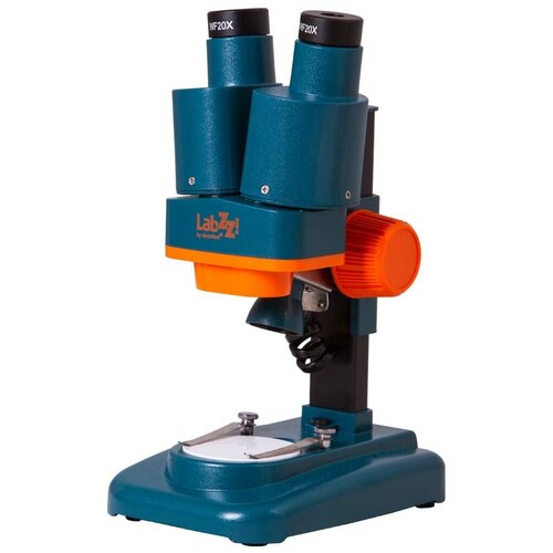 Фото - Микроскоп LEVENHUK LabZZ M4 синий/оранжевый/черный лупа levenhuk labzz c3 синий оранжевый