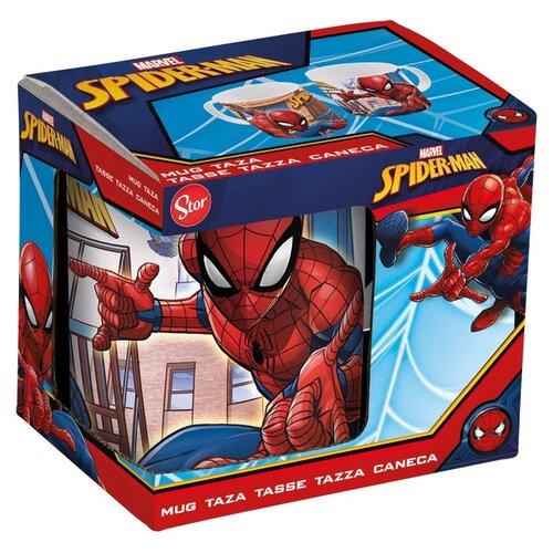 Кружка керамическая в подарочной упаковке (325 мл). Человек-паук Улицы