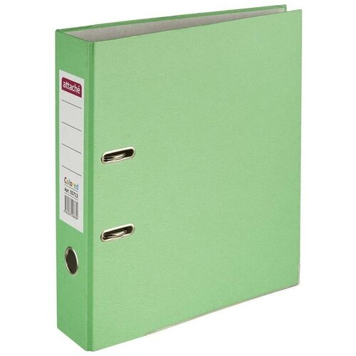 Купить Attache Папка-регистратор Colored light А4, 75 мм зеленый, Файлы и папки
