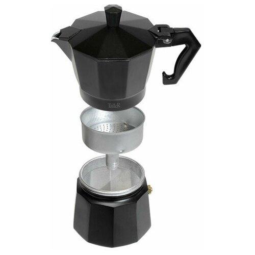 Кофеварка гейзерная TalleR TR-11320, 300мл, черн+кор