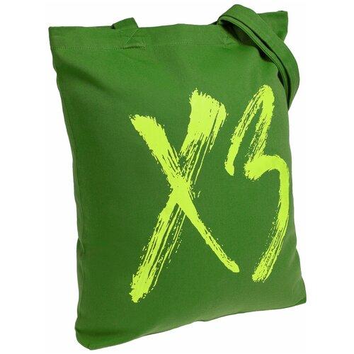 Сумка-шоппер «ХЗ», ярко-зеленая