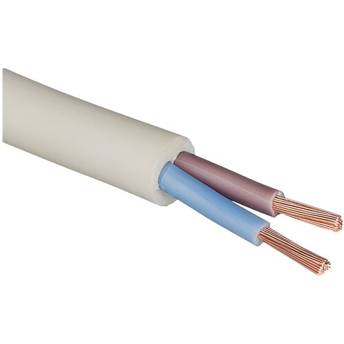 Провод ПВС 2х2.5 кв. мм (20 м) Пан Электрик ГОСТ белый 20 м катушка