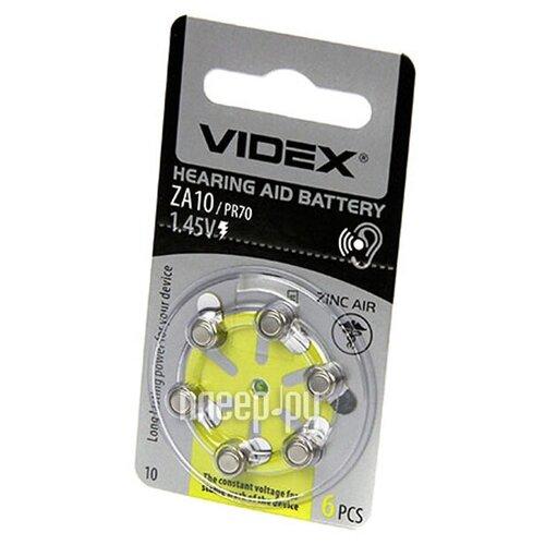 Фото - Батарейка PR70 - Videx ZA10 6BL (6 штук) батарейки perfeo za312 6bl airozinc premium 6 штук