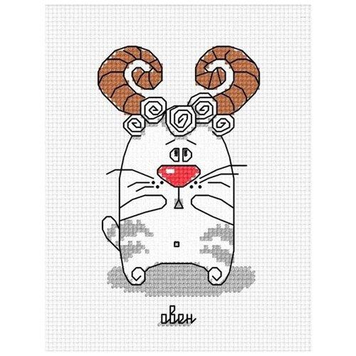 Набор для вышивания «Кошачий гороскоп. Овен», 7x12 см, Овен