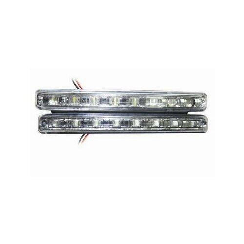 Фары доп. дневные ходовые огни Light DL-8S 8 диодов, белые 2шт (AVS) (50) видеорегистратор avs vr 802shd черный
