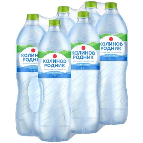 Вода минеральная Калинов Родник негазированная, ПЭТ, 6 шт. по 1.5 л
