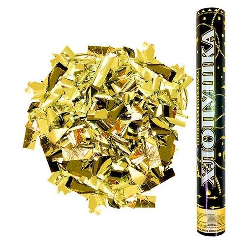 Пневмохлопушка Дон Баллон Металлизированное конфетти, золото