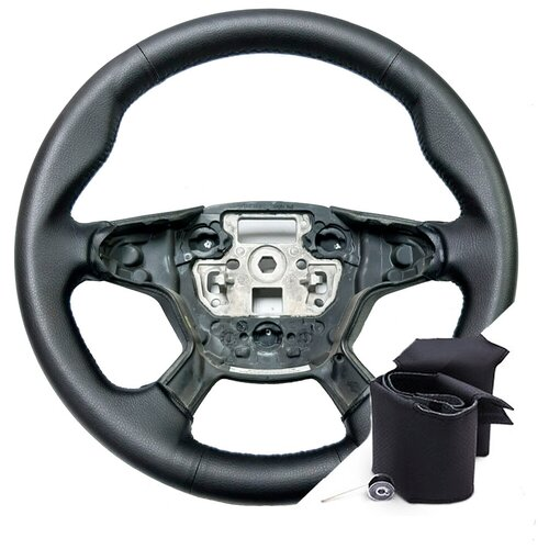 Оплетка для руля Ford Focus 3 (2011-2015 г.в.) - черная нить