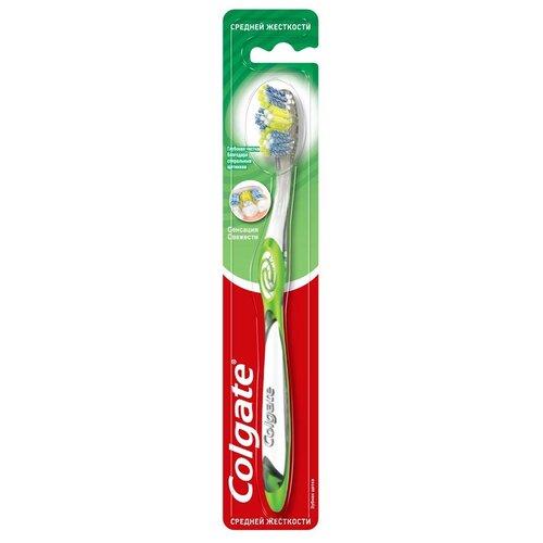 Зубная щетка Colgate Сенсация свежести, средней жесткости, зеленый