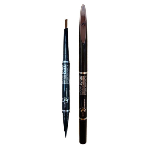 Spada Подводка-фломастер 2 в 1 для глаз и бровей SP 1006, оттенок 102 светло-коричневый
