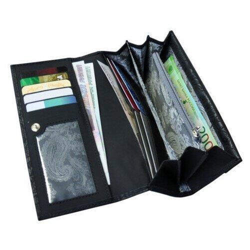 Портмоне кошелек женский с кристаллами Сваровски ВП-17 Lancetta Black Kniksen черный