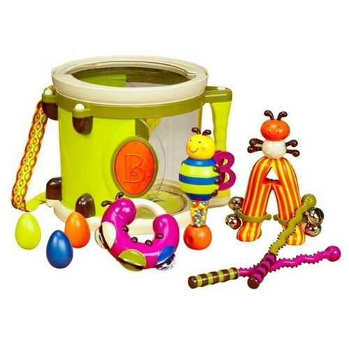 Купить Детский барабан Battat. парам-пам-пам, Детские музыкальные инструменты