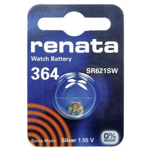 Фото - Батарейка R364 - Renata SR621SW (1 штука) батарейка cr1620 renata 1 штука