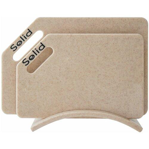 Разделочные доски Solid набор Санд набор 4 гибкие разделочные доски stoneline