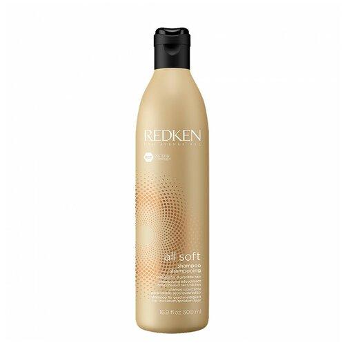 Фото - Шампунь с аргановым маслом для сухих, ломких и жестких волос Redken All soft shampoo 1000 мл шампунь для волос redken all soft 300 мл