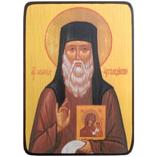 Икона Леонид Устьнедумский, размер 6 х 9 см