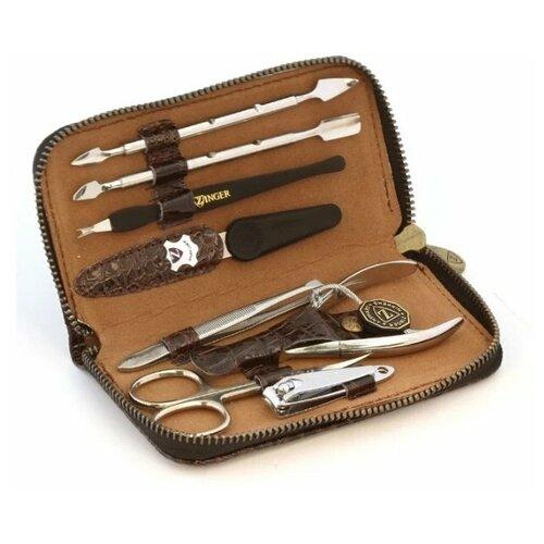 Фото - Маникюрный набор Zinger MS-1302 S, серебристый, 8 предметов маникюрный набор с косметичкой zinger ms 1205 804 s 10 предметов