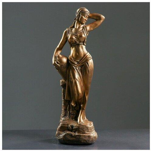Фигура Гречанка бронза 17х22х56см фигура с кашпо гречанка большая бронза 88см 4253601
