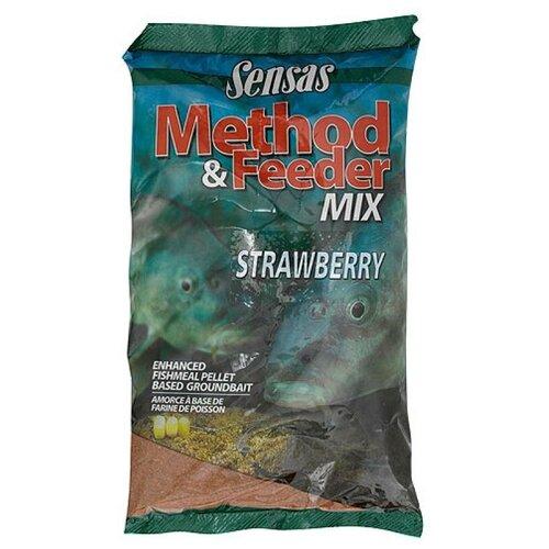 Прикормка Sensas 3000 METHOD FEEDER Strawberry 1кг