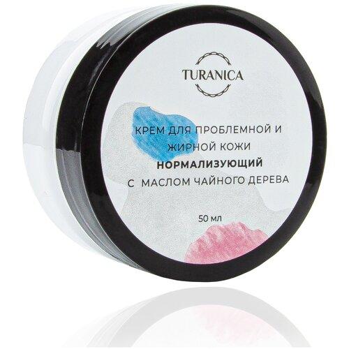 Фото - Крем для проблемной и жирной кожи Turanica Нормализующий с маслом чайного дерева, 50 мл aevit ночной крем для лица нормализующий для жирной кожи 50 мл