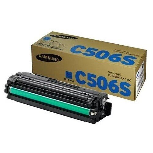 Фото - Картридж лазерный SAMSUNG CLT-C506S голубой (1500с картридж лазерный samsung clt y506s желтый 1500ст