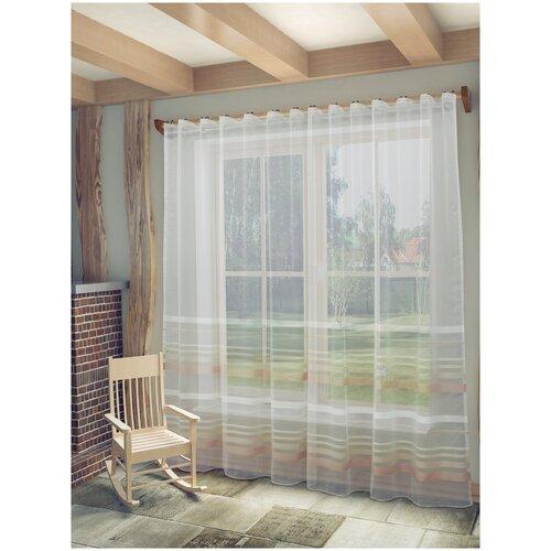 тюль тд текстиль кристин голуб 300 270 Тюль Лиа SANPA HOME COLLECTION, 300*270 см, бежевый/розовый