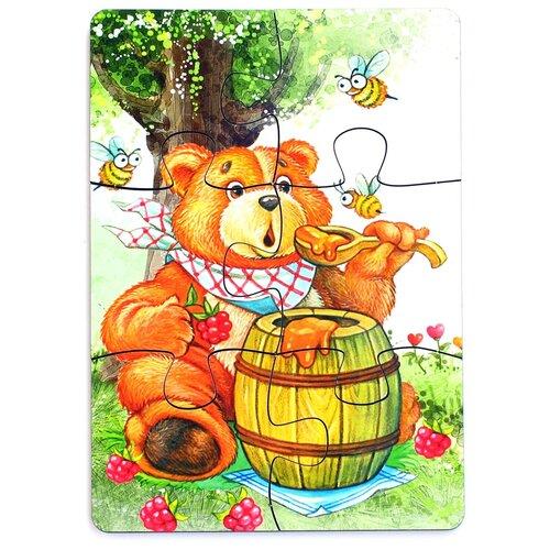 Пазл деревянный Paremo Медведь, 6 элементов (PE720-60)