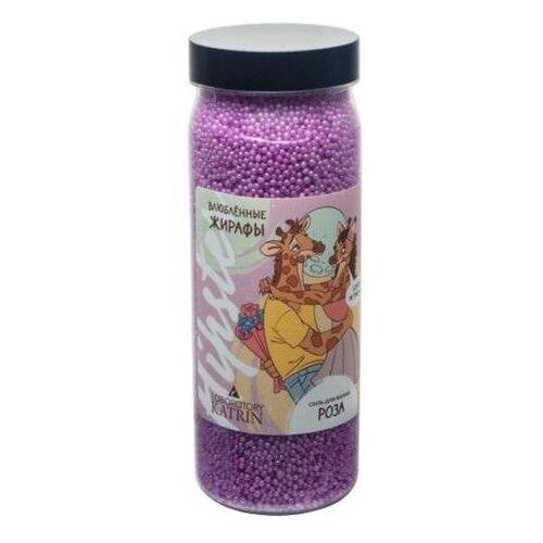Купить Лаборатория Катрин Соль для ванн Влюбленный жирафы Роза, 400 г