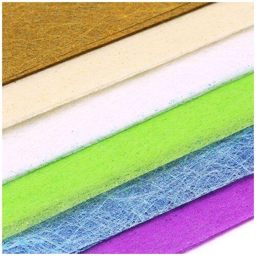 Декоративный нетканный материал для упаковки, рукоделия, флористики (60шт. А4)