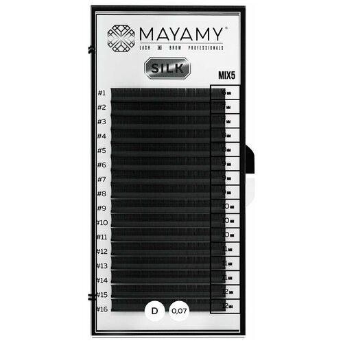 Купить Ресницы MAYAMY SILK 16 линий D 0, 07 MIX 5, Innovator Cosmetics