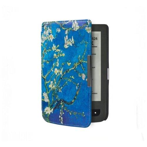 Чехол-обложка футляр MyPads для PocketBook 624 Basic Touch / PocketBook 614 Basic 2/ PocketBook 615 тонкий с магнитной застежкой необычный с красивым рисунком тематика Сакура