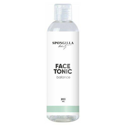 Тоник для лица Spongilla beauty для всех типов кожи Face tonic balance, 200 мл