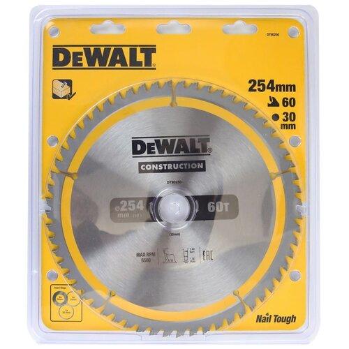Фото - Пильный диск DeWALT Construction DT90250-QZ пильный диск dewalt dt90249 construction 254 30 40t atb7 dt90249 qz