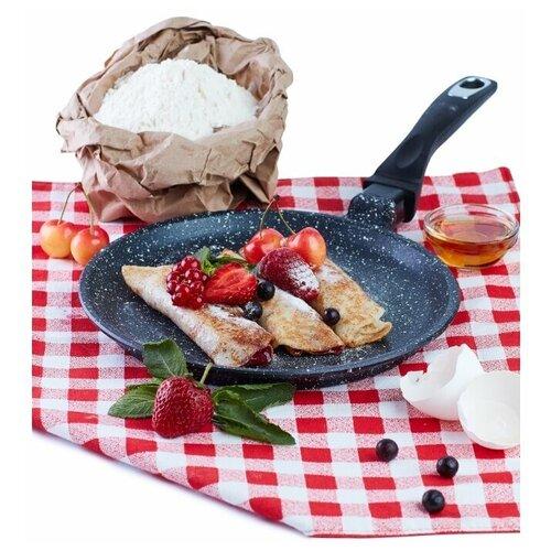 Сковорода блинная Традиция Гранит литая 22 см
