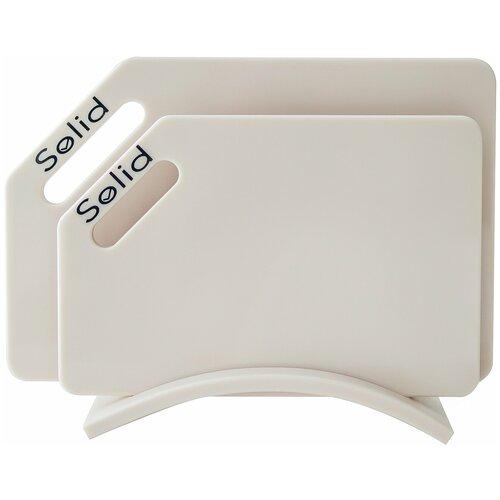 Разделочные доски Solid набор Айвори набор 4 гибкие разделочные доски stoneline