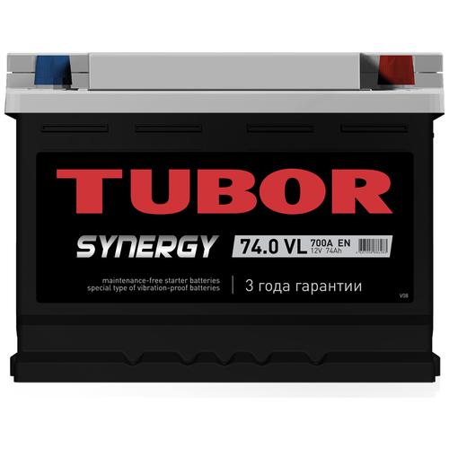Автомобильный аккумулятор TUBOR SYNERGY 6ст-74.0 VL (низкий)