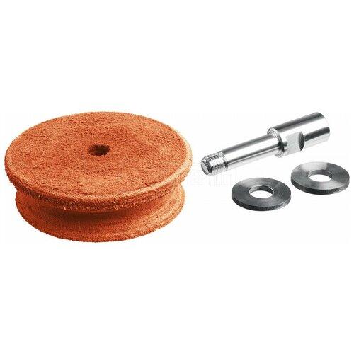 Профилированный кожаный полировальный круг ЗУБР (для ППС-200, ППС-250) ППС-012