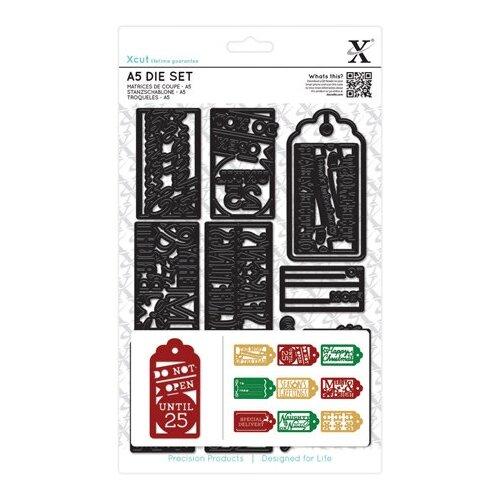 Набор ножей для вырубки Рождественские подарочные бирки 14,8 х 21,0 см, А5 12 шт*