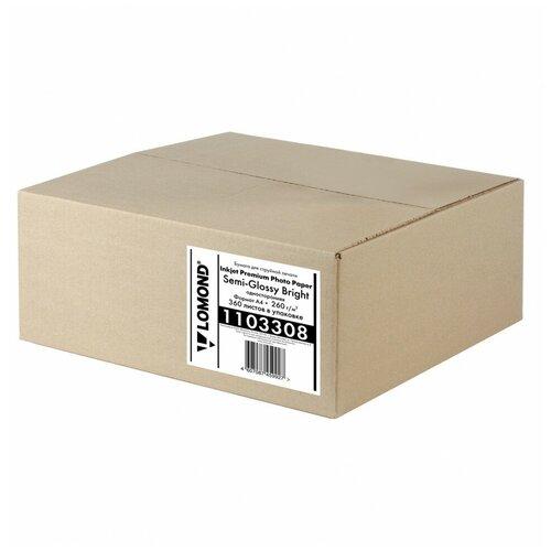 260 г/м2, A4, Semi Glossy Bright Premium фотобумага, 360 листов Lomond 1103308