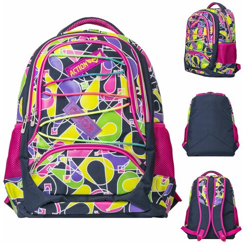 Рюкзак ACTION, размер 40.5*28*14, 5 см, д/девочек, Action!, Рюкзаки, ранцы  - купить со скидкой