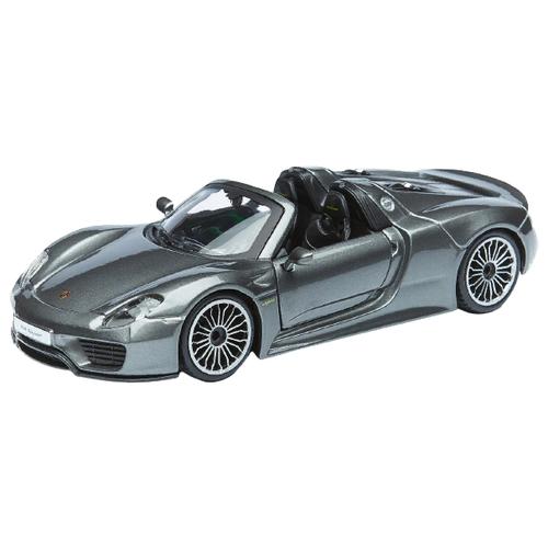 Купить Легковой автомобиль Bburago Porsche 918 Spyder (18-21076) 1:24, 13.7 см, серый металлик, Машинки и техника