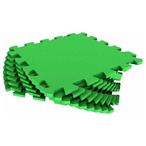 Мягкий пол универсальный Зелёный 33*33 см, 9 деталей мягкий пол eco cover универсальный 30х30 см сад огород 9 деталей
