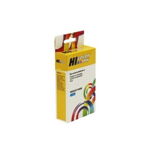 Фото - Картридж Hi-Black (HB-CZ110AE) для HP DJ IA 3525/4615/4625/5525/6525, №655, C картридж hp cz112ae 655 deskjet ia 3525 5525 4615 4625 14 5ml yellow superfine